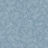 Stylized twigs seamless pattern Royalty Free Stock Images