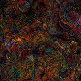 Stylized  twisted shapes background Royalty Free Stock Image