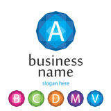 Vektorn märker logoföretaget Arkivbilder