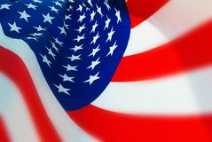 Stylized USA Flag With Limited DOF. Section of Flag of the USA flying with limited DOF Royalty Free Stock Images