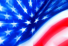 Stylized USA Flag With Zooming Effect Stock Photo