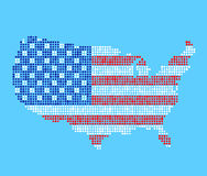 Stylized USA map vector illustration