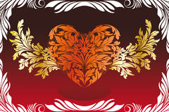 Stylized Valentine's Day Heart Stock Images