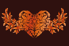 Stylized Valentines Day Heart Royalty Free Stock Image