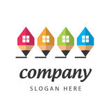 Stylized logo construction company Stock Photos