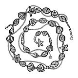 Stylized vector decoration, zentangle Stock Images