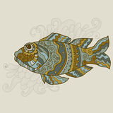 Stylized vector fish Royalty Free Stock Photos