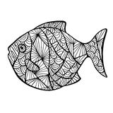 Stylized vector fish, zentangle Stock Images