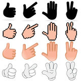 Stylized Vector Hands Royalty Free Stock Photography