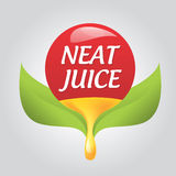 Styled icon natural taste Stock Photo
