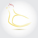 Stylized vector image of an hen. Poultry icon royalty free illustration