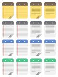 Note icons. Stylized vector note icons for pc Stock Image