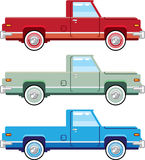 Stylized Vector Old Pickup Truck vector Stock Photo