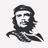 Stylized vector portrait of Che Guevara Royalty Free Stock Photos