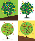 Stylized vector tree Royalty Free Stock Photo