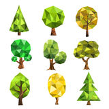 Stylized vector tree collection Royalty Free Stock Photos