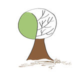 Stylized vector tree Stock Photography