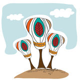 Stylized vector trees Royalty Free Stock Photography