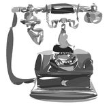 Stylized vintage phone Royalty Free Stock Images