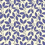 Stylized violet leaves. Seamless pattern. For your design Royalty Free Stock Photography
