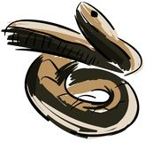 Stylized viper isolated Royalty Free Stock Image