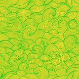 Stylized water waves and scallops doodle vector Stock Photos