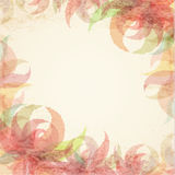 Stylized watercolor background with absrtract flower vector illustration