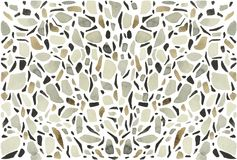Watercolor terrazzo background white. This is a stylized watercolor composition of one of the varieties of a seamless mosaic floor. Venetian terrazzo to this day Stock Images