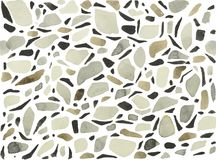 Watercolor terrazzo background white with grey marble. This is a stylized watercolor composition of one of the varieties of a seamless mosaic floor. Venetian Stock Image