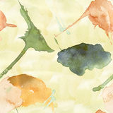 Stylized watercolor seamless background Stock Photography