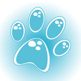 Stylized waterdrop paw prints. Illustration Royalty Free Stock Images