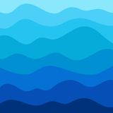 Stylized wave background in vector Royalty Free Stock Image