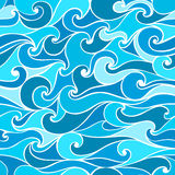 Stylized wave Stock Images
