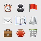 Stylized web icons, set 01. Vector icons set for internet, website, guides stock illustration
