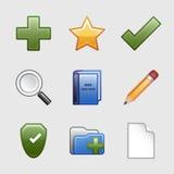 Stylized web icons, set 08 Royalty Free Stock Images