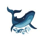 Stylized whale image Stock Image