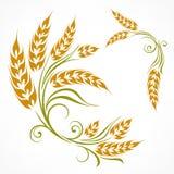 Stylized wheat pattern Stock Photos