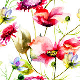 Stylized wild flowers Royalty Free Stock Photography