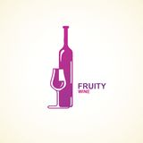 Stylized wine icon. Royalty Free Stock Images