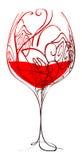 Stylized wineglass Stock Image