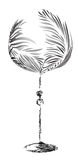 Stylized wineglass Royalty Free Stock Images