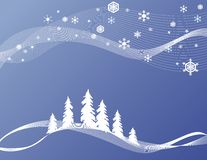 Stylized Winter Background Royalty Free Stock Photography