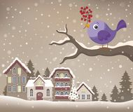 Stylized winter bird theme image 1 Royalty Free Stock Photo