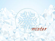 Stylized winter landscape. Vector illustrator Royalty Free Stock Photos