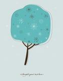 Stylized winter tree. Royalty Free Stock Photo