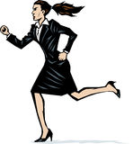 Stylized woman running Stock Photography