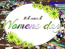 Stylized women's day greeting card Stock Photos