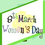Stylized women's day greeting card Royalty Free Stock Photography