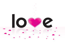 Stylized word love Stock Photo