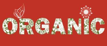 Stylized Word ORGANIC Royalty Free Stock Photography